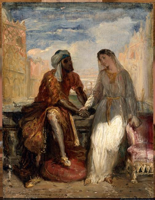 Othello et Desdémone à Venise par Théodore Chassériau, 1850