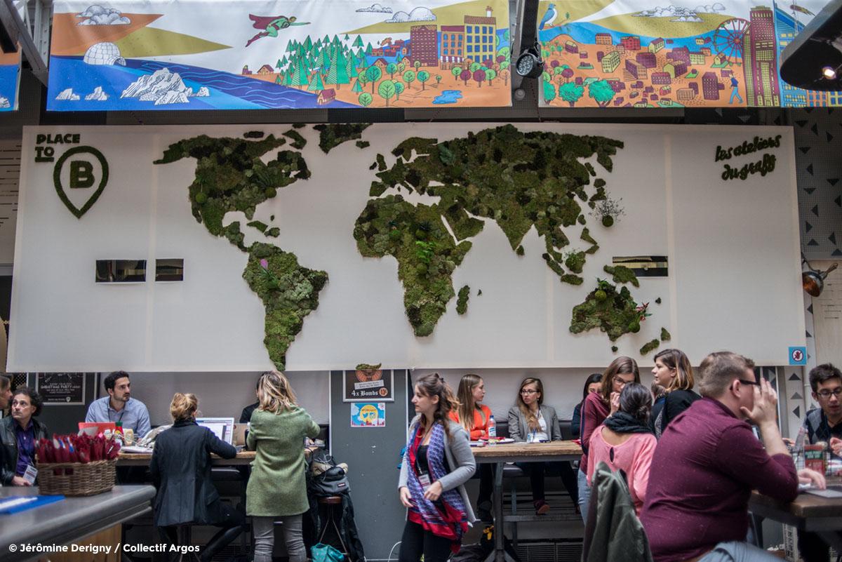 #PhotoCOP21 PlacetoB. Espace de coworking à Paris pendant la COP21
